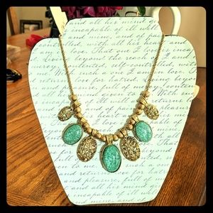 Gold & Green Necklace